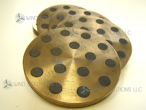 WS30097 - Graphite Lubricated Sintered Bronze Yaw Pads For Dry Operation Image